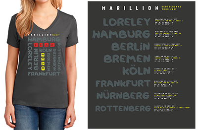 German Tour 2017 Ladies TShirts