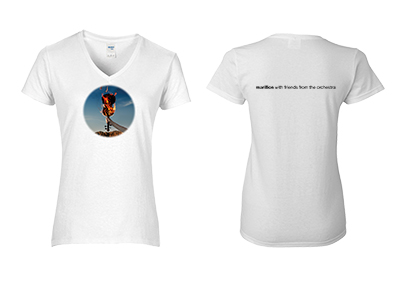 FRIENDS FROM THE ORCHESTRA LADIES WHITE V-NECK TSHIRT