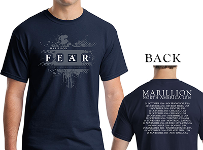 FEAR NORTH AMERICAN TOUR 2016 T-SHIRT T-SHIRT (L)