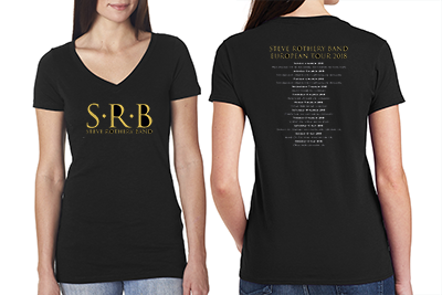 Steve Rothery Band 2018 Tour Ladies Black T-Shirts